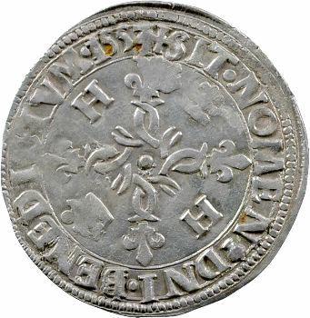 Henri II, douzain aux croissants, 1553 Rouen
