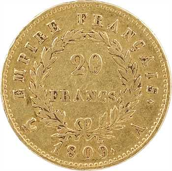 Premier Empire, 20 Francs Empire, 1809 Paris