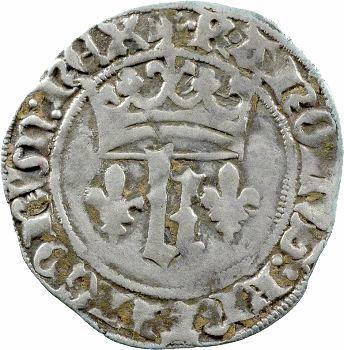 Charles VII, blanc au K dit des gens d'armes, 2e émission, Poitiers