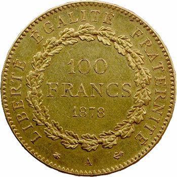 IIIe République, 100 francs Génie, 1878 Paris