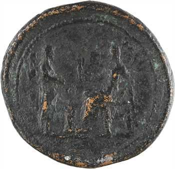 Faustine, médaillon, sacrifice à Vesta, Rome, après 141