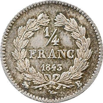 Louis-Philippe Ier, 1/4 franc, 1843 Rouen