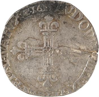 Louis XIII, quart d'écu, croix de face, 1615 Saint-Lô