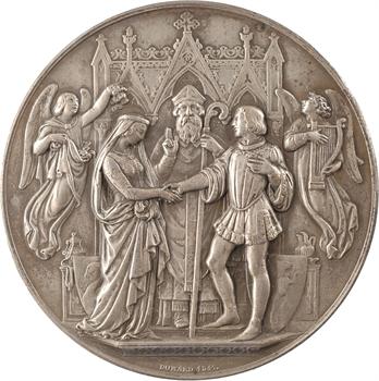 IVe république, médaille de mariage, par Domard, 1847 (1946) Paris