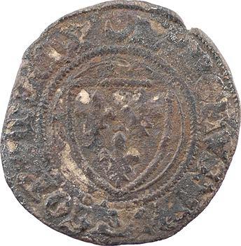 Charles VII, petit blanc à l'écu ou demi-guénar, Châlons-en-Champagne