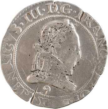 Henri III, franc au col plat, 1576 Rennes