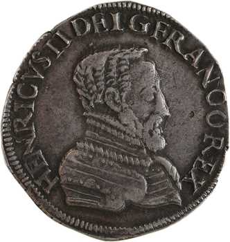Henri II, teston à la tête nue 1er type, 1556 Poitiers