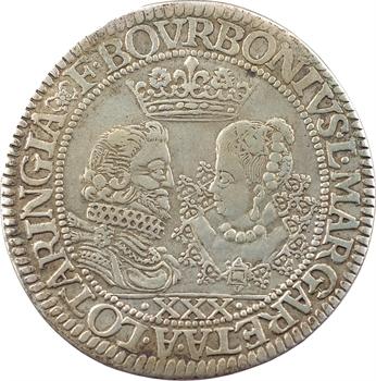 Château-Regnault (principauté de), François de Bourbon et Louise-Marguerite de Lorraine, thaler de XXX sols, 1614 Château-Regnault