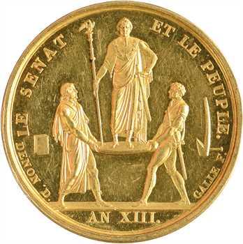 Premier Empire, le sacre de Napoléon Ier, en OR, An XIII (1804) Paris