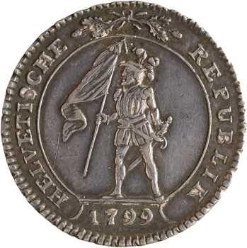 Suisse, République helvétique, 10 batzen, 1799 Berne
