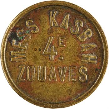 Algérie (?), mess Kasbah, 4e de Zouaves, bon pour un billard, s.d