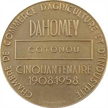Dahomey, Cotonou, cinquantenaire de la Chambre de commerce et pose de la première pierre du port, 1959 Paris