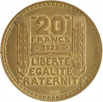 IIIe République, essai de 20 francs Turin, cupro-aluminium, 1929 Paris