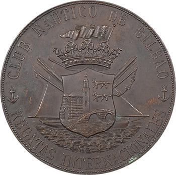Espagne, Club nautique de Bilbao, prix de régates internationales, 1881