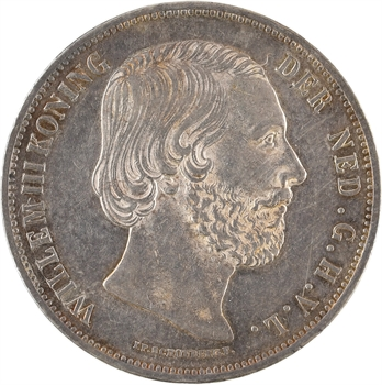Pays-Bas (royaume des), Guillaume III, 2 gulden 1/2, 1870 Utrecht