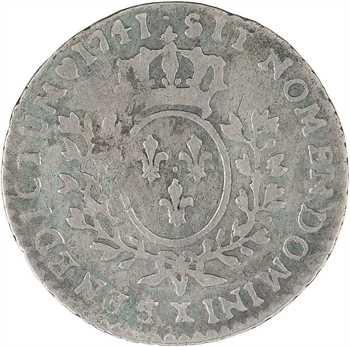 Louis XV, vingtième d'écu au bandeau, 1741 Amiens