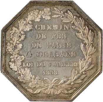IIe République, le chemin de fer de Paris à Orléans, par Bovy, 1838 (post.) Paris