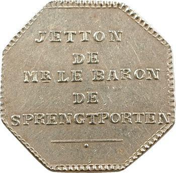 Suède, jeton du baron de Sprengtporten, ambassadeur