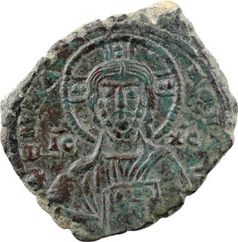 Basile II/Constantin VIII ou XIe s., follis anonyme, classe A1, Constantinople, s.d. (c.976-1028)