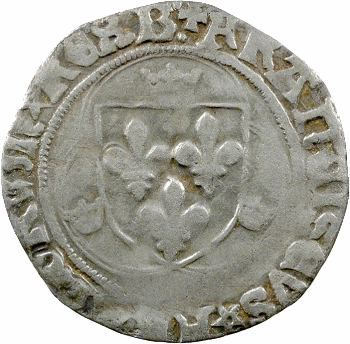 François Ier, Grand blanc à la couronne 1er type, Bourges