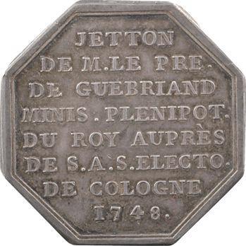 Bretagne, jeton de Jean Bonaventure II Le Lay de Guébriand, ministre plénipotentiaire à Cologne, 1748