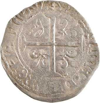 Charles VII, blanc à la couronnelle, Poitiers