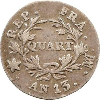 Premier Empire, quart de franc, An 13 Marseille