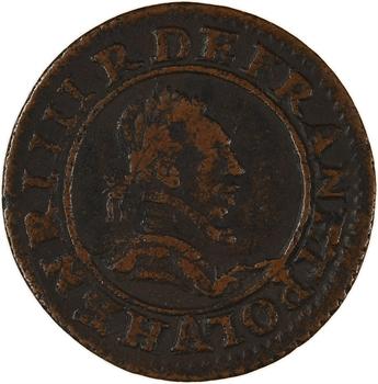 La Ligue (au nom d'Henri III), double tournois 2e type, s.d. (1589-1590) Paris