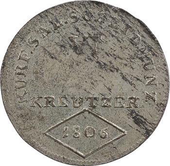 Autriche, Salzbourg, Ferdinand, Prince-électeur, 6 kreuzer, 1806