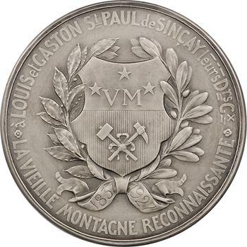 Belgique, hommage des Mines de la Vieille Montagne (90e anniversaire), par Devreese, 1927 Bruxelles