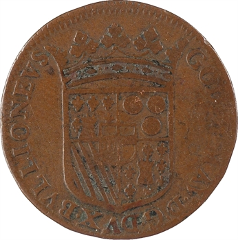 Bouillon (duché de), Godefroy-Maurice de La Tour, liard 3e type, 1681 Sedan