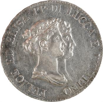 Italie, Lucques et Piombino, 5 franchi, 1806 Florence