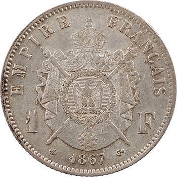 Second Empire, 1 franc tête laurée, 1867 Paris