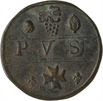 Picardie, Amiens, méreau de V sols, 1710