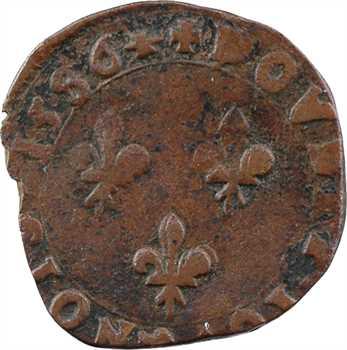 Henri III, double tournois au buste du denier, 1586 La Rochelle