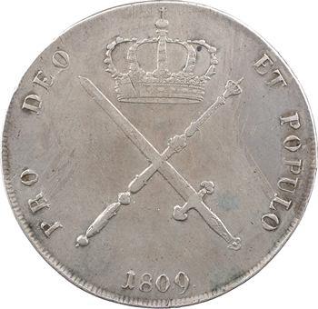 Allemagne, Bavière (royaume de), Maximilien Ier Joseph, thaler à la couronne, 1809 Munich