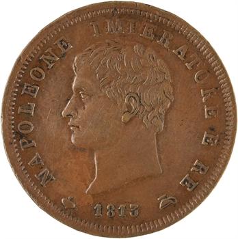 Italie, Napoléon Ier, 1 soldo 2e type, 1813 Milan