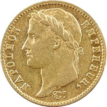 Premier Empire, 20 francs Empire, 1814 Paris