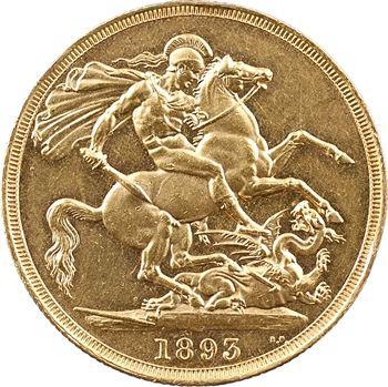 Royaume-Uni, Victoria, 2 livres (pounds), 1893 Londres