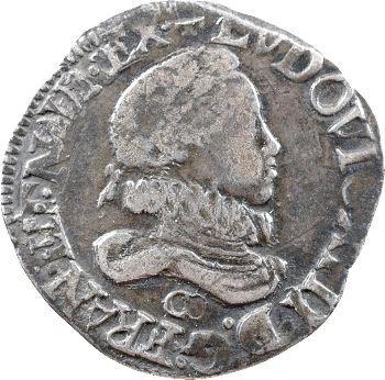 Louis XIII, demi-franc 4e type, 1615 Saint-Lô