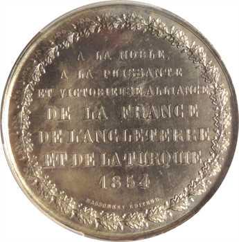 Russie, Crimée, la triple alliance France/ Royaume-Uni et Turquie contre la Russie, par Caqué, 1854 Paris, PCGS SP63
