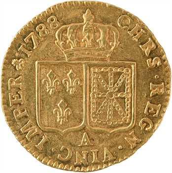 Louis XVI, louis d'or à la tête nue, 1788, 1er semestre, Paris