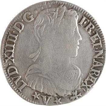 Louis XIV, demi-écu de Navarre à la mèche longue, 1658 Saint-Palais