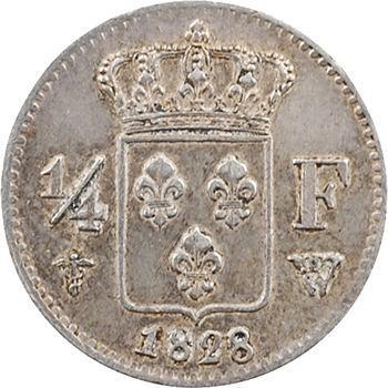 Charles X, 1/4 de franc, 1828 Lille