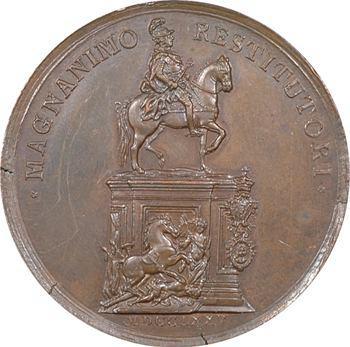 Portugal, statue équestre de Joseph Ier, restaurateur de Lisbonne après le tremblement de terre, 1775 Lisbonne
