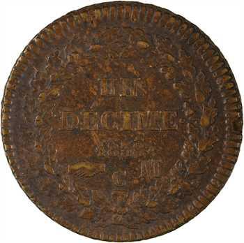 Monaco, Honoré V, décime, 1838 Monte-Carlo