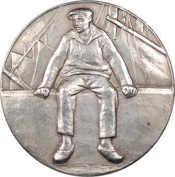 Pommier (A.) : le Pêcheur, en argent, 1931 Paris