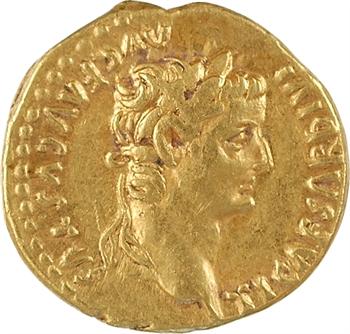 Tibère, aureus, Lyon, 14-37