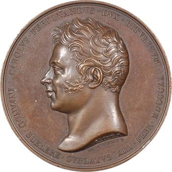 Duc de Berry, honneurs rendus dans la basilique de Saint Denis, 1820 Paris