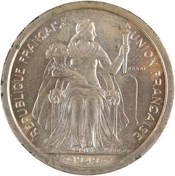 Nouvelle-Calédonie, essai de 2 francs, 1949 Paris